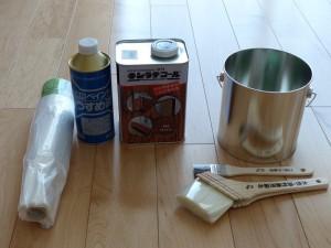 買ってきた塗装道具一式